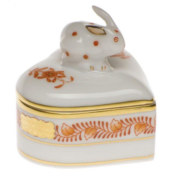Heart-shaped Box - Rabbit Knob - Assorted Decors