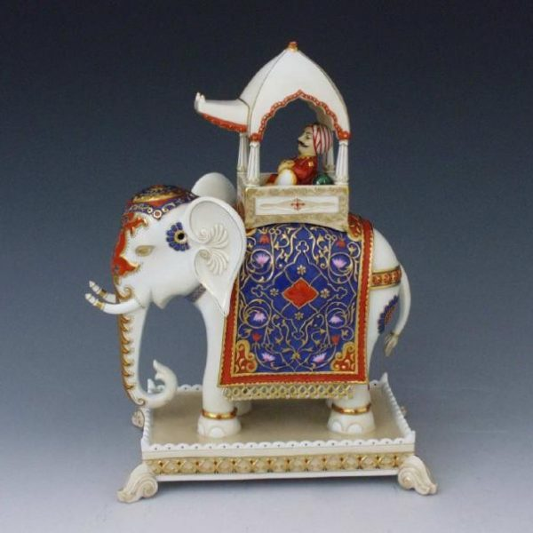 Elephant on base, with maharaja