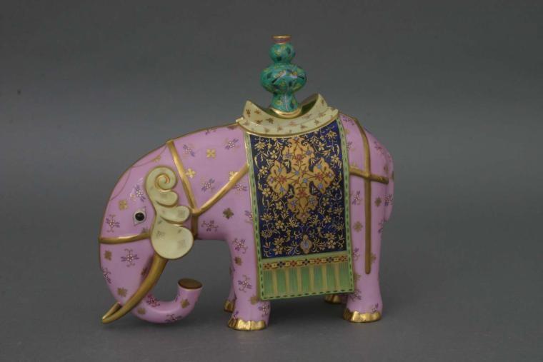 Elephant with vase