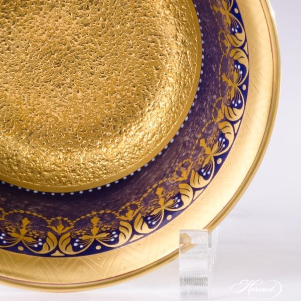 Rococo Cobalt Blue and Gold Herend Bowl Masterpiece