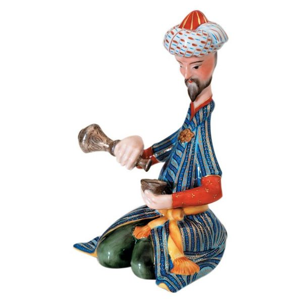 persian-drinking-tea-figurine- Herend Porcelain