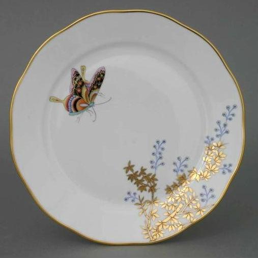 Dessert Plate - Bamboo & Butterfly