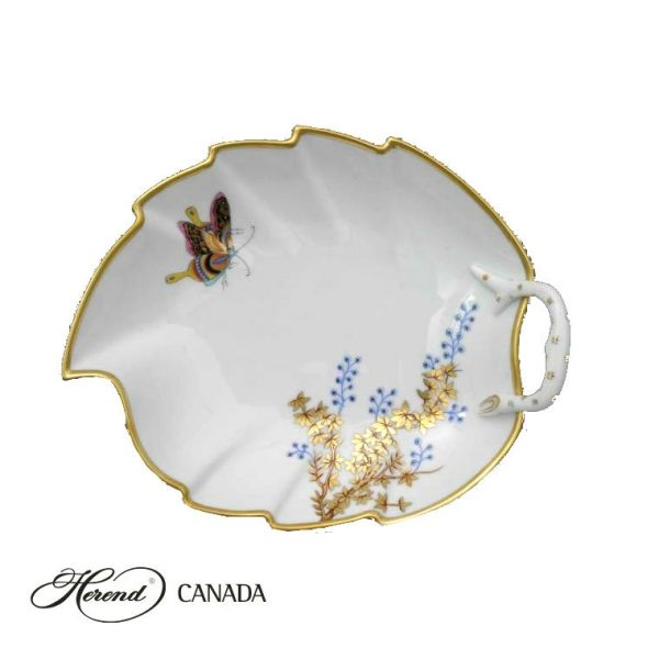Leaf Dish - Bamboo & Butterfly