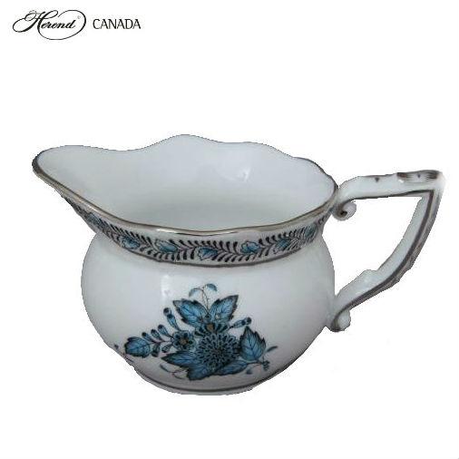 Creamer - Chinese Bouquet Turquoise Platinum