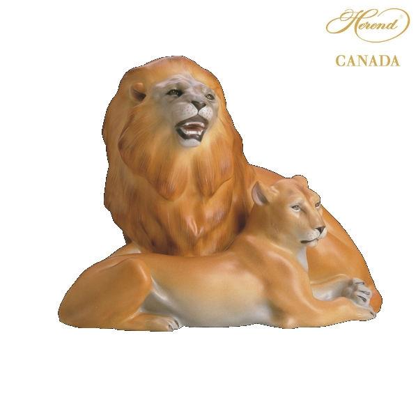 Herend Pair of lionsf figurine 15294-0-00
