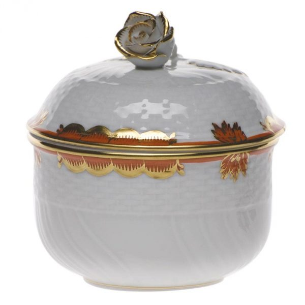 Sugar Bowl, rose knob - Princess Victoria Colors