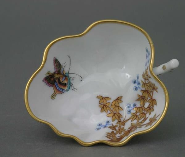 Sugar Bowl (Leaf shaped) - Bamboo & Butterfly