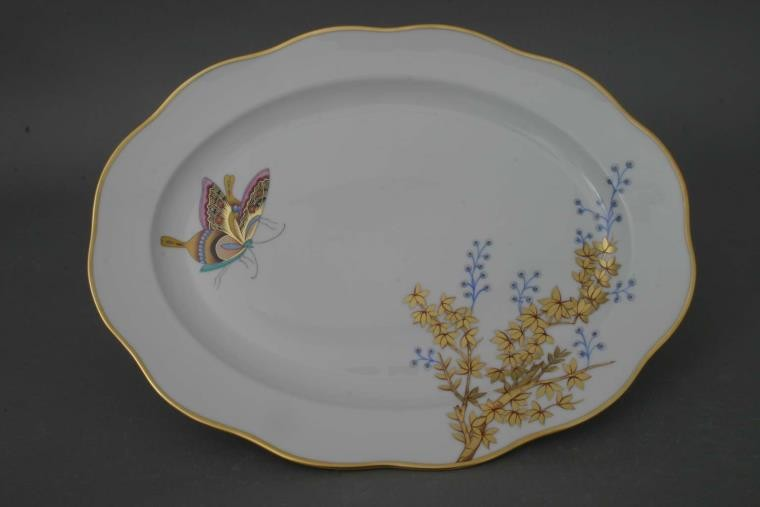 Medium Oval dish - Bamboo & Butterfly
