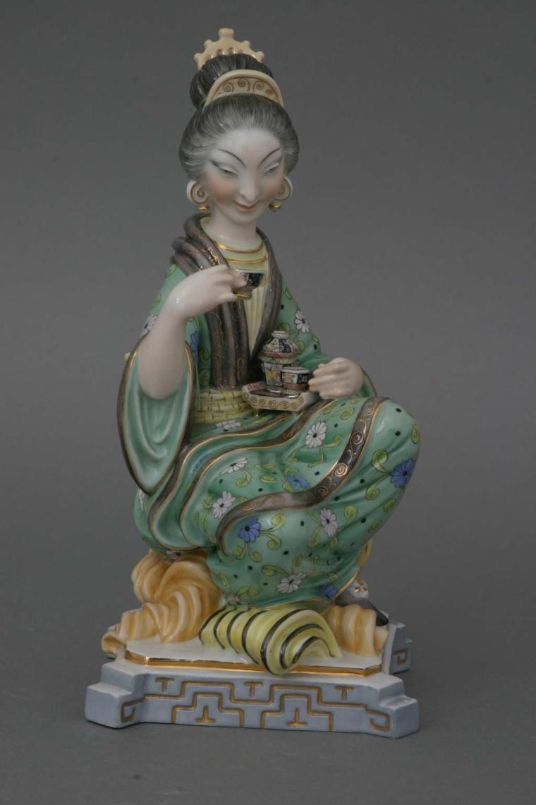 Tea Drinking Geisha