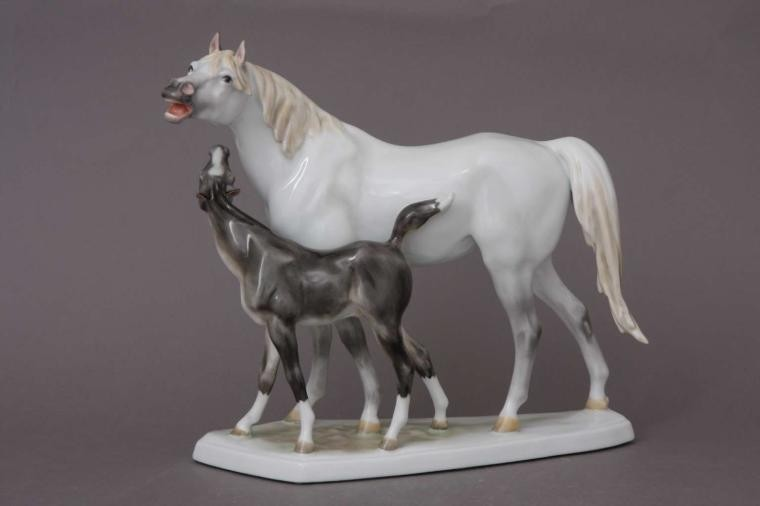Pony with his mother
