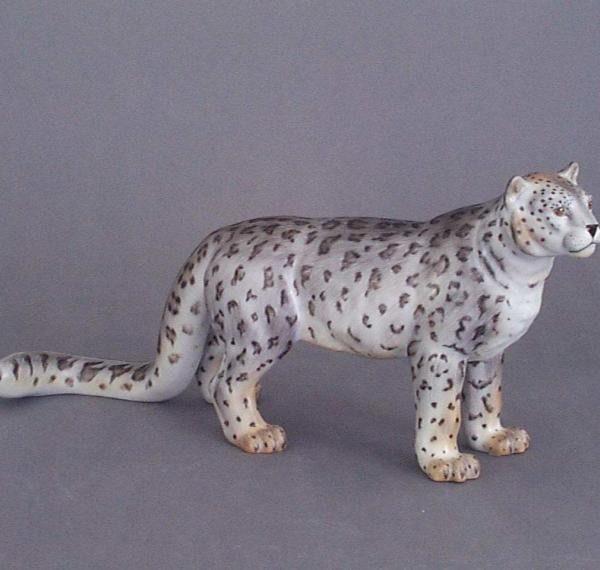 Herend Panther Figurine - MCD - Matt Natural