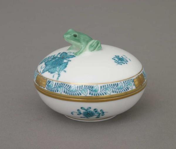 Bonbonniere, frog knob - Chinese Bouquet Colors