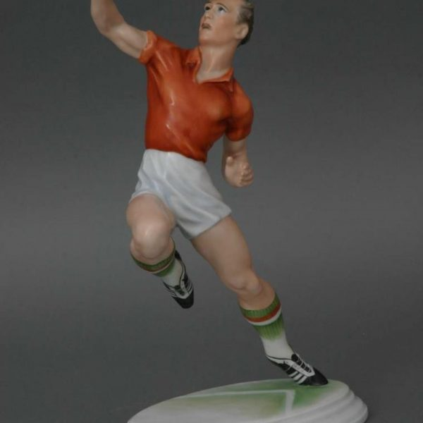 Heading footballer