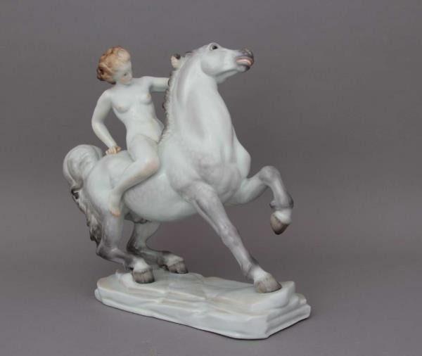Amazon on horseback