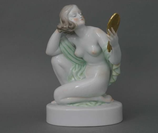 Nude woman with mirror,SMALL