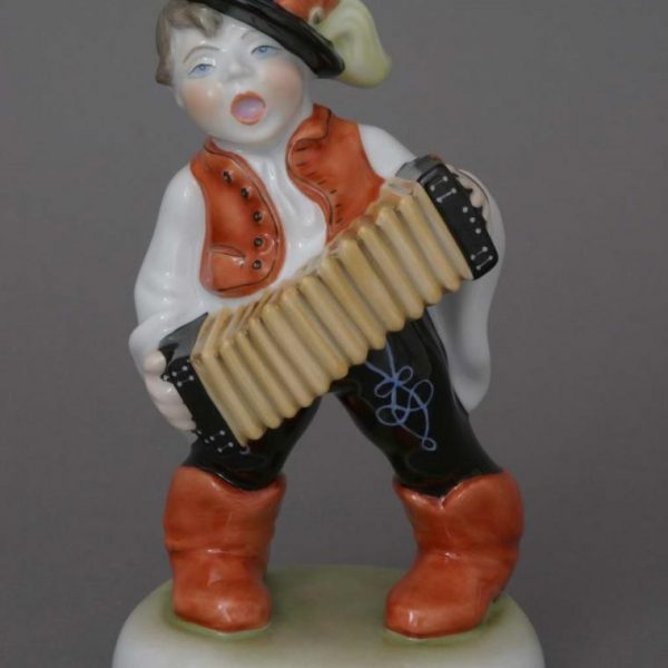Peasant boy, playing accordion