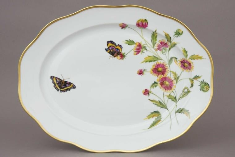 Large Oval dish - American Wildflower