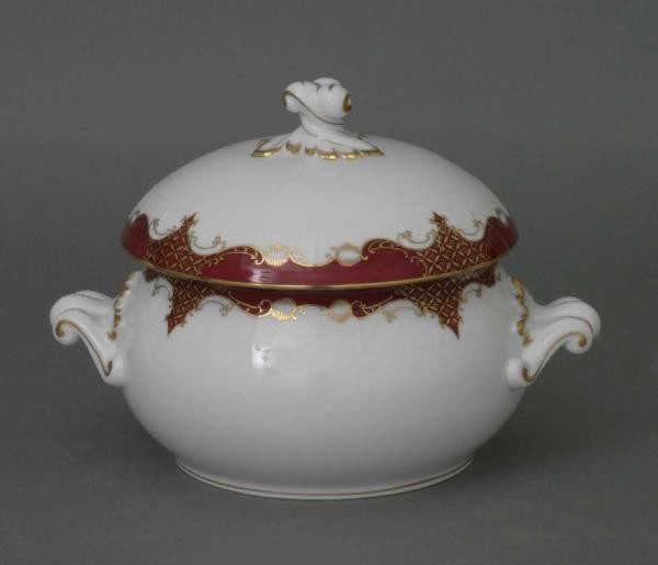 Soup tureen, twisted knob - Amanda