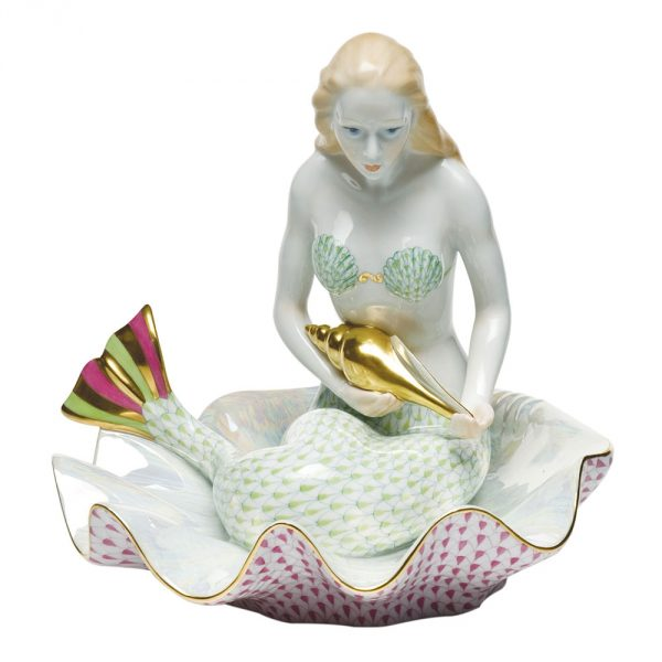Herend Mermaid On Shell Reserve Collection 15240-0-00 VHSP2