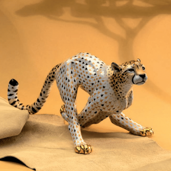 Herend-Cheetah-Animal-Figurine