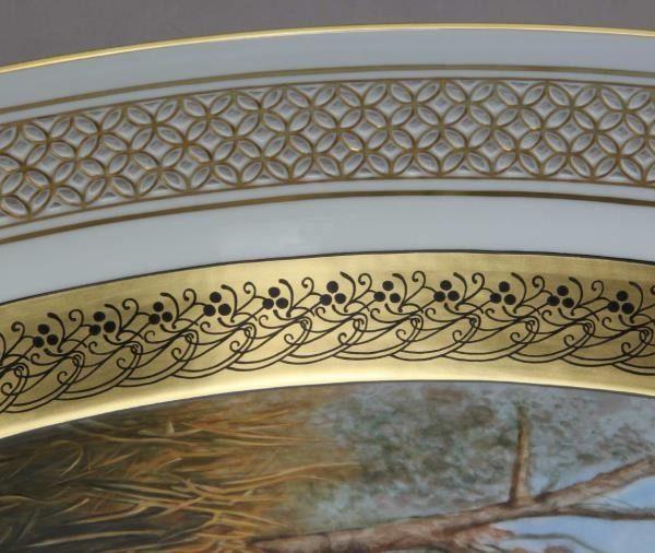 Ornamental plate, open-work