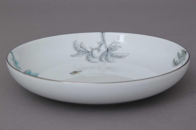 Pasta plate- FORET Garden Torquoise Platinum