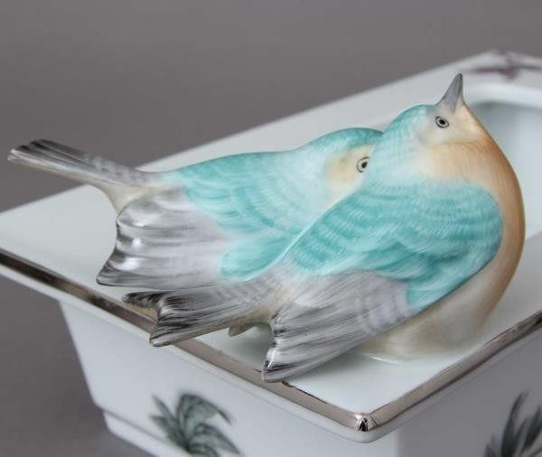 Table Ornament - FORET Bird Turquoise Platinum