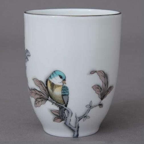 Cup - Foret Bird Turquoise Platinum