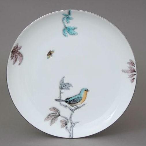 Dessert Plate - Foret Bird Turqouise Platinum