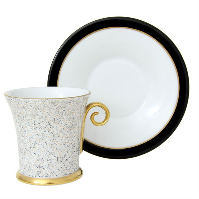 Teacup & Saucer- Onyx Black