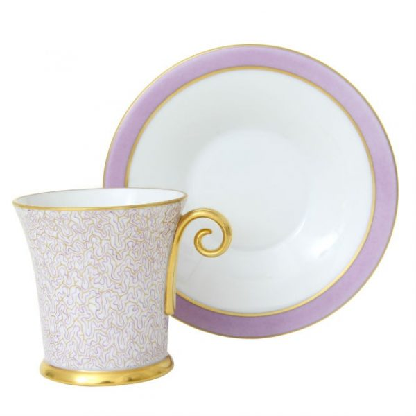 Teacup & Saucer- Onyx Lilac