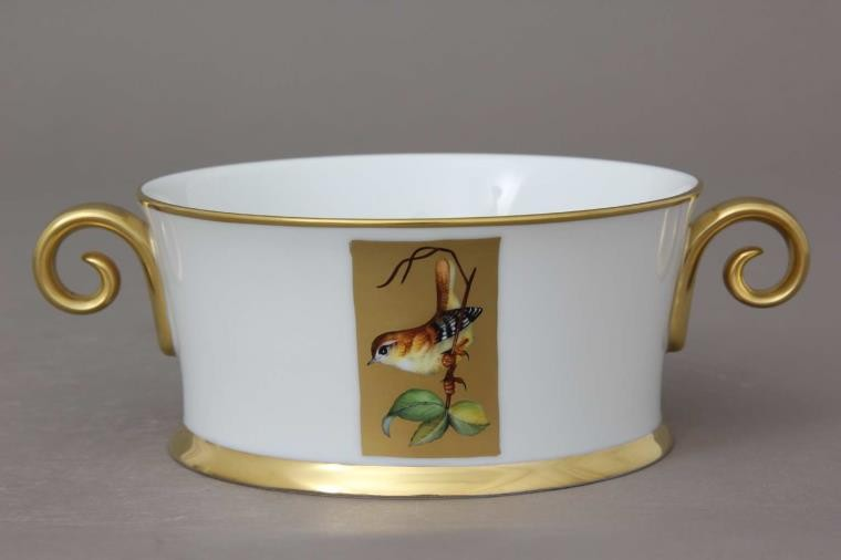 Bowl with 2 handles- Hermitage