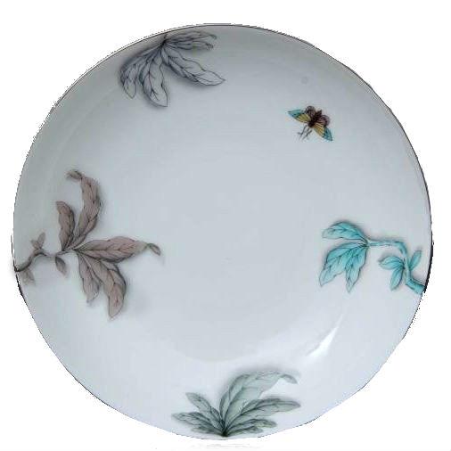 Saucer - Foret Bird Turquoise Platinum