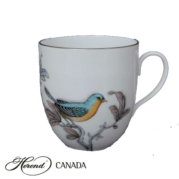 Coffee Cup - Foret Bird Turquoise Platinum