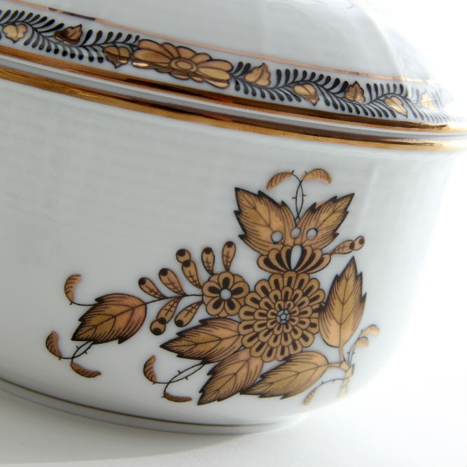 Sugar basin, rose knob - Chinese Bouquet Gold