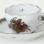 Coffee Cup and Saucer - Chinese Bouquet Gold