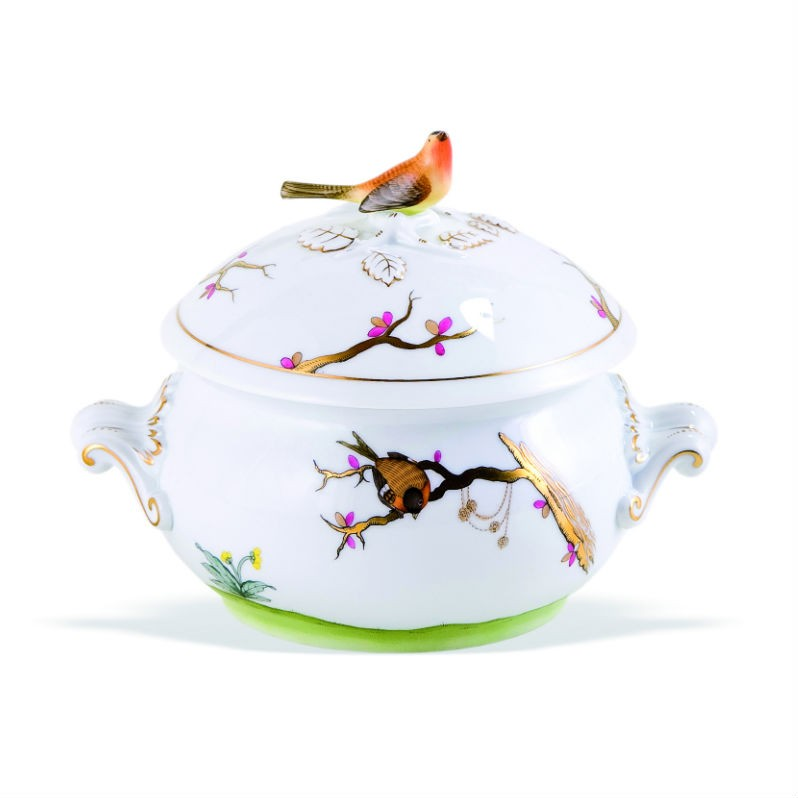 Soup tureen, twisted knob - Dream Garden