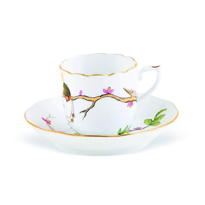 Mochacup and Saucer - Dream Garden