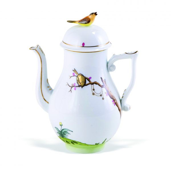 Coffeepot, bird knob - Dream Garden