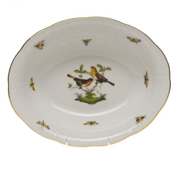 Oval bowl- Rothschild Bird