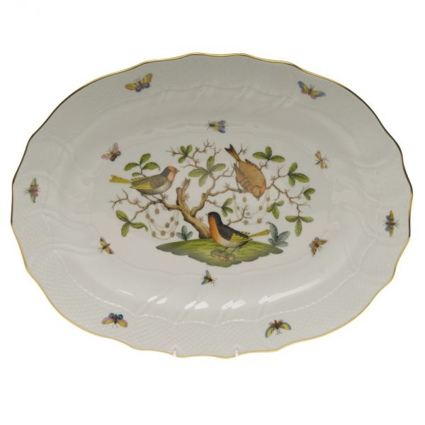 Oval platter Rothschild Bird
