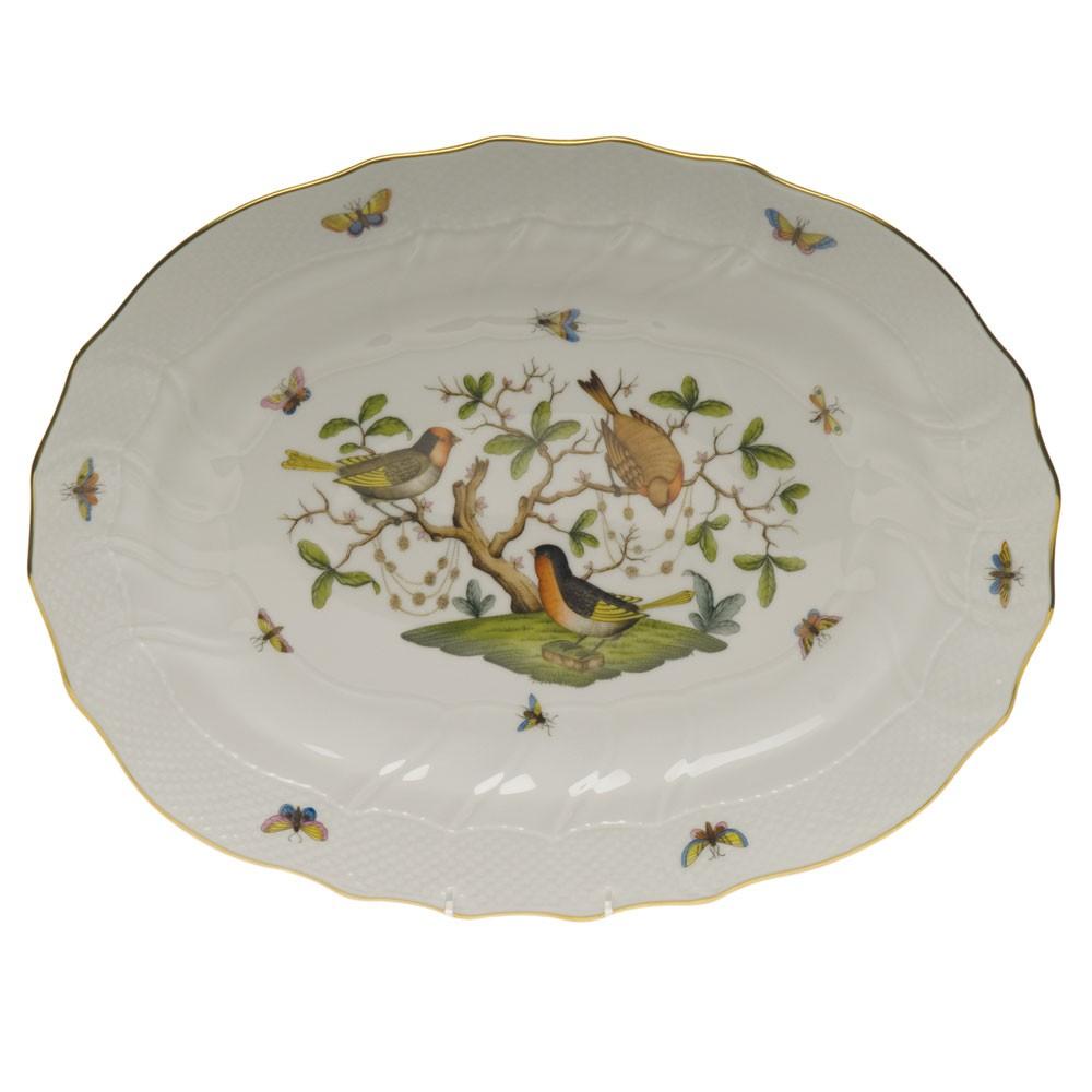 Oval platter Rothschild Bird