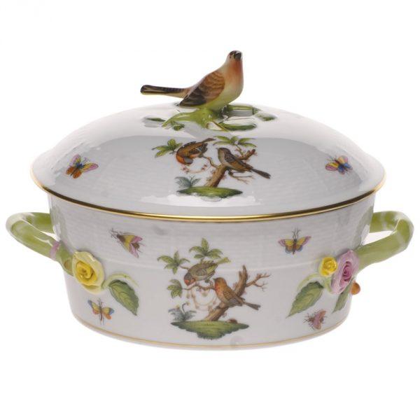 Cov, Veg. Dish,Bird K.-Rothshild Bird