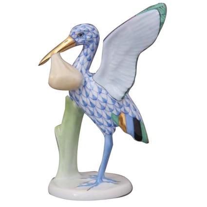 Stork w. baby - Fishnet