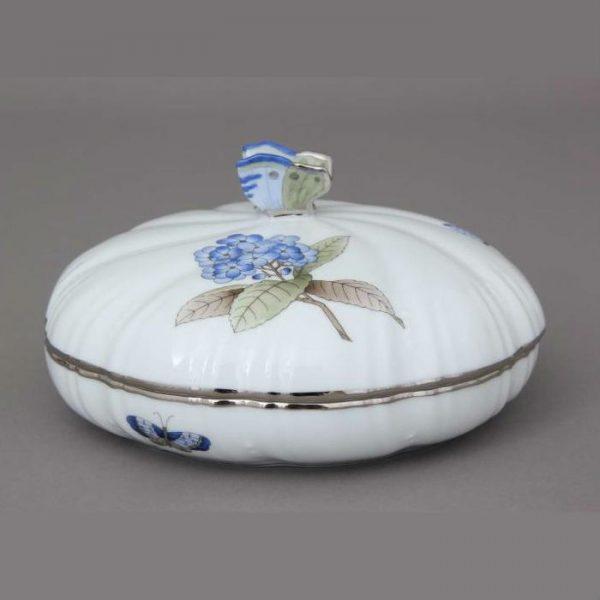 Bonbonniere, Butterfly Knob - Victoria Grande Blue - Platinum