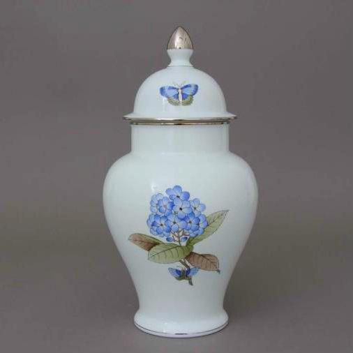 Vase, button knob - Victoria Grande Blue - Platinum