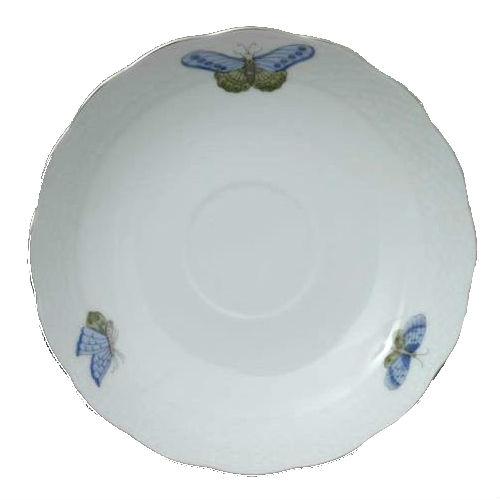 Tea Saucer - Victoria Grande Blue - Platinum