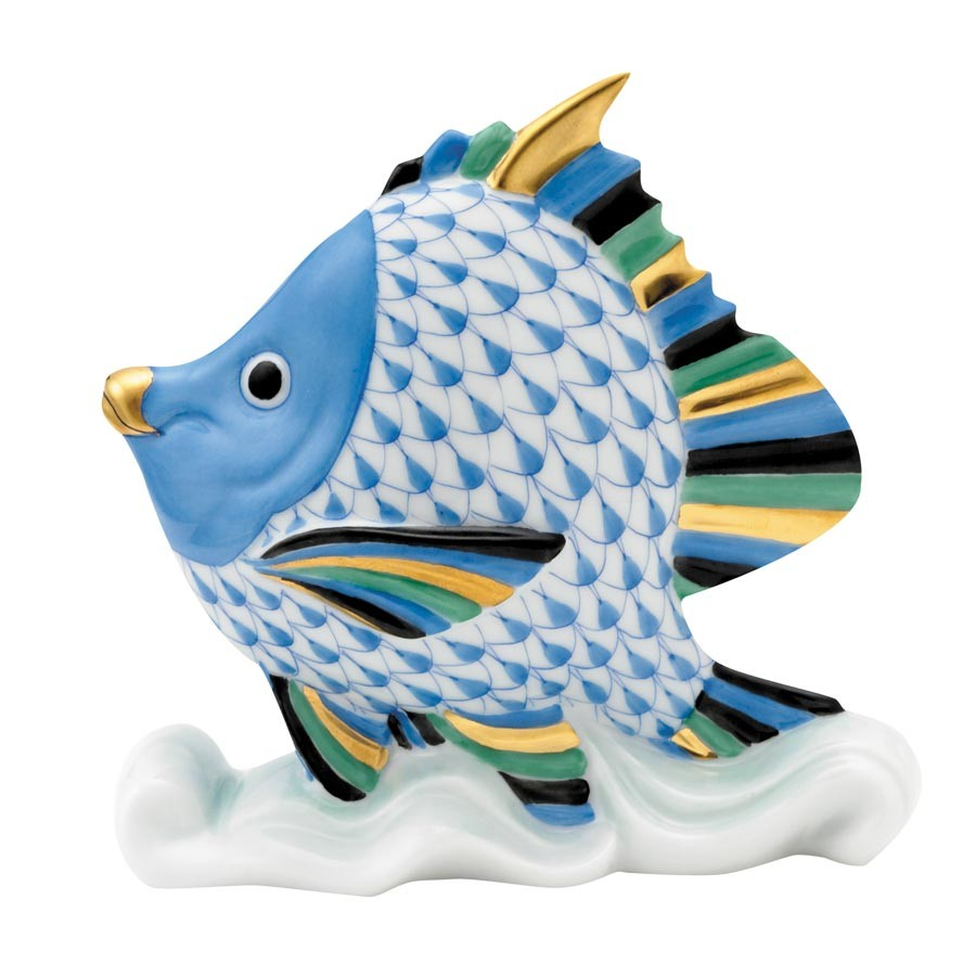 Tropical Fish - Blue Fishnet
