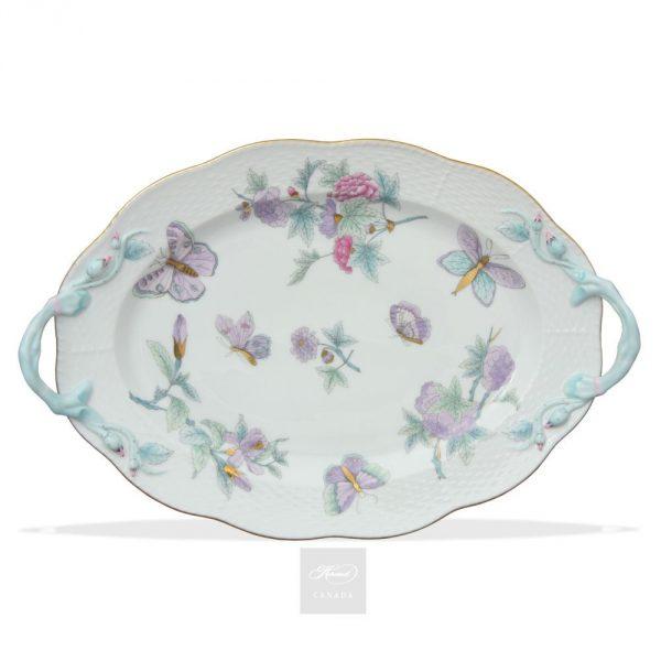 Oval Tray - Royal Garden Blue