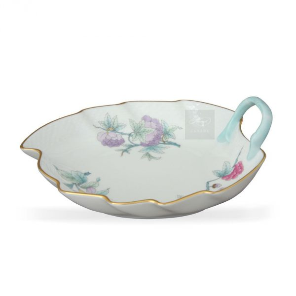 Leaf Dish - Royal Garden Flowers Blue